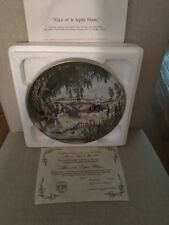 Sandy Nightingale Vintage Porcelain Collector Plate. Alice And White Rabbit