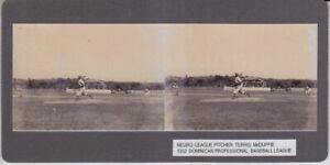 STEREOVIEW NEGRO LEAGUE BASEBALL PITCHER TERRIS McDUFFIE at 1952 SERIES