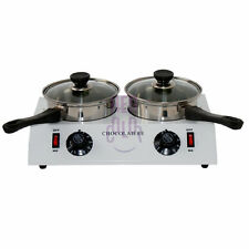 220V Stainless Steel Double Chocolate Tempering Cylinder Melting Melter Pot