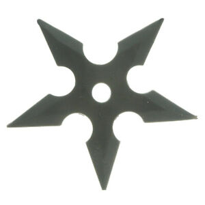 Black Rubber Soft Flexible Five Points Throwing Star for Training and Practice