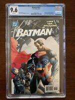 Batman #612 CGC 9.6 (DC 2003) Superman on cover.  Jim Lee.  Coupon incl.