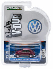 1:64 GreenLight *CLUB V-DUB 2* VOLKSWAGEN VW Maroon 1951 Spilt Window Beetle NIP