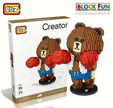 LOZ Boxing Bear (9041) Diamond Block Nano Blocks Mini Toys 1960 pcs