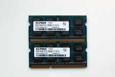 16GB (2x8GB) Elpida DDR3 PC3-12800S laptop memory RAM 1600 MHz