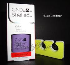 CND Shellac Lilac Longing LED/UV Gel Polish .25oz New With Box +BONUS!