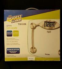 "NIB TAYLOR 7506BL ""THE BIGGEST LOSER"" 400lb Capacity Digital Bathroom Scale"