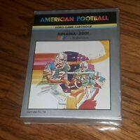 Emerson Arcadia 2001 AMERICAN FOOTBALL game cartridge #14 Manual/Box overlays