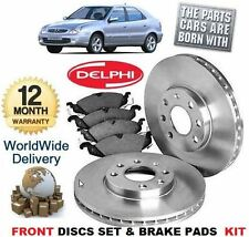 FOR CITROEN XSARA COUPE 2.0 VTS 2.0 2002-2004 FRONT BRAKE DISCS & DISC PAD KIT