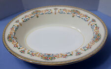 """Aynsley China HENLEY (Smooth Gold)Oval Serving Bowl 10 1/2"""""""