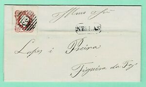 PORTUGAL D.Luis Cameo 25r 1865 Cover NELAS > FIGUEIRA  Folded Letter w/Contents