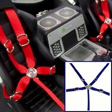 RC Scale, Drift, Crawler Racing 5 Point Harness Seatbelt Set Toyz 001 Blue