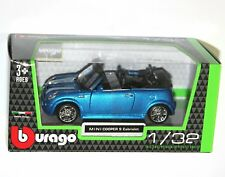 Burago - MINI COOPER S Cabriolet (Blue) Model Scale 1/32