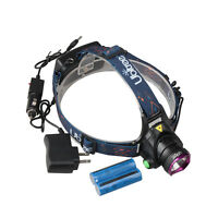 20000LM XM-L T6 LED Head Torch Headlight+AC&Car Charger+18650 Battery
