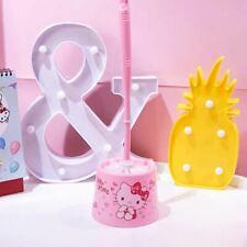 Cute Hello Kitty Toilet Brush Cleaner Bathroom Washroom Bath Cleaning Tool Kit