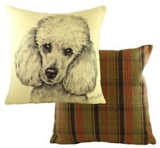 "17"" White Poodle Dog Cushion Evans Lichfield DPB039 43cm Waggydogz"