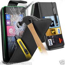 Top LIBRO PIEL CALIDAD Funda de teléfono ✔Cristal protector pantalla para Lumia