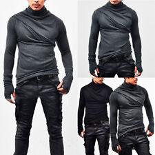 Trendy Mens Irregular Knitted Sweater Slim Fit Jumper Pullover Blouse Tops Shirt
