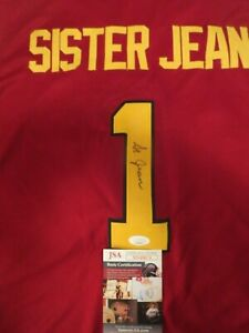 SISTER JEAN SIGNED LOYOLA NCAA JERSEY JSA. ONLY 1 ON EBAY. AMAZING
