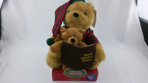 'Twas The Night Before Christmas Teddy Bears Animated Musical Talking New in Box