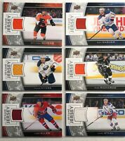6 Card Jersey Lot 2013-14 Upper Deck Game Jerseys Canadiens Oilers Flyers Kings