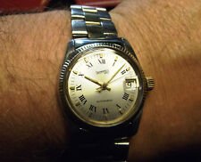 EBERHARD - FINE LADY VINTAGE AUTOMATIC DATE - S. STEEL AND GOLD - SWISS MADE