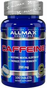 ALLMAX Nutrition 100% Caffeine 200mg 100 Tablets | EXPRESS POST
