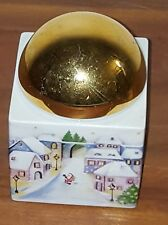 Arzberg Porzellan, Deckeldose Weihnachten Winter gold bunt