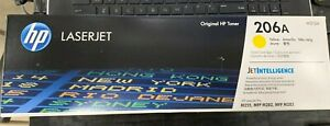NEW GENUINE HP LASERJET 206A W2112A TONER CARTRIDGE- YELLOW