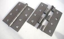 "Hinge Butt 100mm 4"" pk 2 Loose Pin Steel Heavy UK including screws see details"