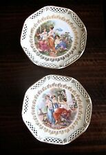 GERMAN PORCELAIN PLATES SCHWARZENHAMMER BAVARIA MADE IN GERMANY U.S. ZONE