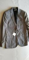 CALVIN KLEIN CK Men Slim Fit 2 Button Blazer Jacket Sport Coat - Medium Gray NEW