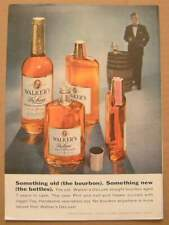 1958 Walker's Deluxe Bourbon New Bottles Color AD