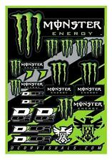 Planche d'autocollant Monster Énergy 19 Stickers 40-90-102 moto scooter kit dé