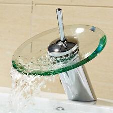 Wasserfall Wasserhahn Glas | Badarmatur | Einhandmischer Armatur Waschbecken