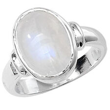 Moonstone Anniversary Oval Fine Solitaire Rings