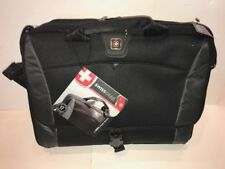 NWT Wenger Swiss Gear Black/Gray Computer Briefcase - comes with Shoulder Strap