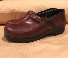 "DANSKO ""Professional"" Stapled CLOG Maroon Leather 41/10.5-11US"