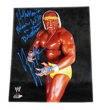 WWE HULK HOGAN HAND SIGNED PHOTO FILE PHOTO W/ INSCRIPTION AND PROOF 4