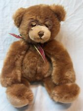 "Gund SOFT BOOKER THE BROWN TEDDY BEAR WITH GLASSES 10"" Plush Stuffed Animal TOY"