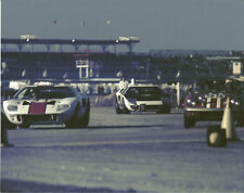 Vintage Color 8X10 1966 Daytona 24 Essex Wire Ford GT40, Lotus Elan, Ford MkII