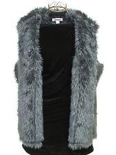 SOFT! Vintage Coldwater Creek Black Faux Suede and Fur Vest Size 1X/18