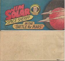 WISCO GIVEAWAY PROMO RARE JIM SOLAR SPACE SHERIFF BATTLE FOR MARS 1953 VITAL VNM