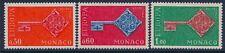 Monaco 1968 - Europa Issue Keys - Sc 689/91 MNH