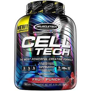 Muscletech Cell-Tech Creatine Performance 2.7kg Muscle Gainer Free next day P&P
