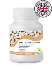 White Kidney Bean 5000mg Tablets Natural Protein - Choose Pills Quantity