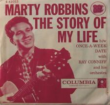 1957 Marty Robbins 'The Story Of My Life/Once-A-Week Date' Columbia 45 RPM NM