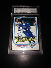 Peter Stastny Signed 1981-82 Topps Rookie Card Nordiques PSA Slabbed #83703134