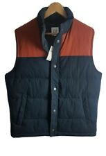 Gilet Mens Gilet Body Warmer Medium Size M Sleeveless Vest Waistcoat Blue BNWT