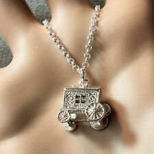 new sterling silver small gipsy caravan pendant & chain