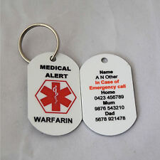 Personalised Medical Alert Keyring for Warfarin